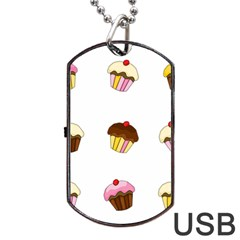 Colorful Cupcakes  Dog Tag Usb Flash (one Side) by Valentinaart