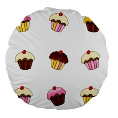 Colorful Cupcakes  Large 18  Premium Flano Round Cushions by Valentinaart