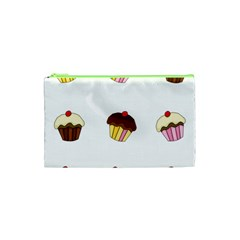 Colorful Cupcakes  Cosmetic Bag (xs) by Valentinaart