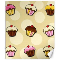 Colorful Cupcakes Pattern Canvas 20  X 24   by Valentinaart