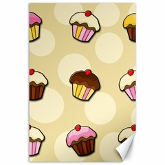 Colorful Cupcakes Pattern Canvas 24  X 36  by Valentinaart