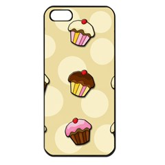 Colorful Cupcakes Pattern Apple Iphone 5 Seamless Case (black) by Valentinaart
