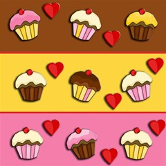 Love Cupcakes Magic Photo Cubes by Valentinaart