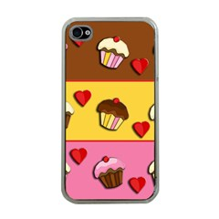 Love Cupcakes Apple Iphone 4 Case (clear) by Valentinaart