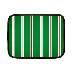 Green Line Netbook Case (small)  by AnjaniArt