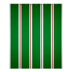 Green Line Shower Curtain 60  X 72  (medium)  by AnjaniArt