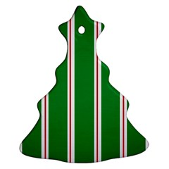 Green Line Christmas Tree Ornament (2 Sides) by AnjaniArt