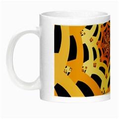 Spider Helloween Yellow Night Luminous Mugs by AnjaniArt