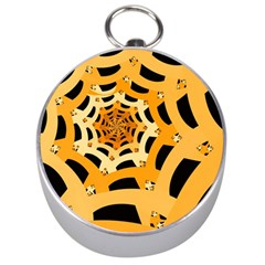 Spider Helloween Yellow Silver Compasses by AnjaniArt