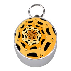 Spider Helloween Yellow Mini Silver Compasses by AnjaniArt