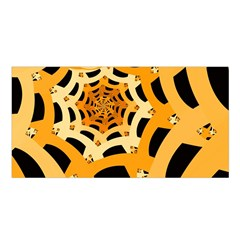 Spider Helloween Yellow Satin Shawl by AnjaniArt