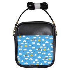 White Clouds Girls Sling Bags by AnjaniArt