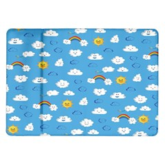 White Clouds Samsung Galaxy Tab 10 1  P7500 Flip Case by AnjaniArt