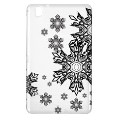 Beautiful Black Ans White Snowflakes Samsung Galaxy Tab Pro 8 4 Hardshell Case by Brittlevirginclothing