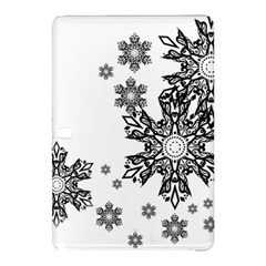 Beautiful Black Ans White Snowflakes Samsung Galaxy Tab Pro 12 2 Hardshell Case by Brittlevirginclothing