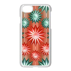 Stars Patterns Christmas Background Seamless      Apple iPhone 7 Seamless Case (White) by Zeze
