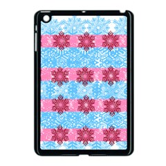 Pink Snowflakes Pattern Apple Ipad Mini Case (black) by Brittlevirginclothing
