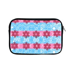 Pink Snowflakes Pattern Apple Ipad Mini Zipper Cases by Brittlevirginclothing