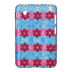 Pink Snowflakes Pattern Samsung Galaxy Tab 2 (7 ) P3100 Hardshell Case  by Brittlevirginclothing