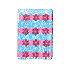 Pink Snowflakes Pattern Ipad Mini 2 Hardshell Cases by Brittlevirginclothing