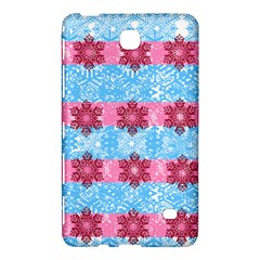 Pink Snowflakes Pattern Samsung Galaxy Tab 4 (8 ) Hardshell Case  by Brittlevirginclothing