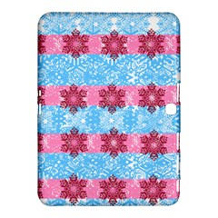 Pink Snowflakes Pattern Samsung Galaxy Tab 4 (10 1 ) Hardshell Case  by Brittlevirginclothing
