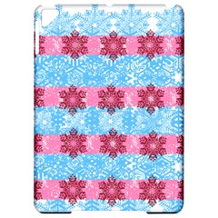 Pink Snowflakes Pattern Apple Ipad Pro 9 7   Hardshell Case by Brittlevirginclothing