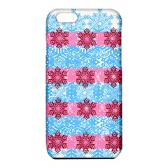 Pink Snowflakes Pattern iPhone 6/6S TPU Case by Brittlevirginclothing