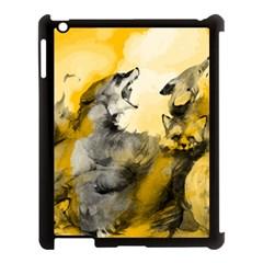 Wild Wolf Apple Ipad 3/4 Case (black) by Brittlevirginclothing