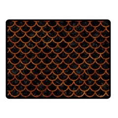 Scales1 Black Marble & Brown Marble Double Sided Fleece Blanket (small) by trendistuff