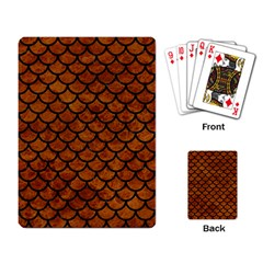 Scales1 Black Marble & Brown Marble (r) Playing Cards Single Design by trendistuff
