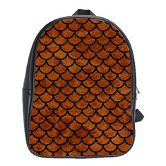 Scales1 Black Marble & Brown Marble (r) School Bag (xl) by trendistuff