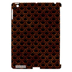 Scales2 Black Marble & Brown Marble Apple Ipad 3/4 Hardshell Case (compatible With Smart Cover) by trendistuff