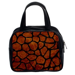 Skin1 Black Marble & Brown Marble Classic Handbag (two Sides) by trendistuff