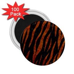 Skin3 Black Marble & Brown Marble 2 25  Magnet (100 Pack)  by trendistuff