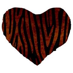 Skin4 Black Marble & Brown Marble (r) Large 19  Premium Flano Heart Shape Cushion by trendistuff
