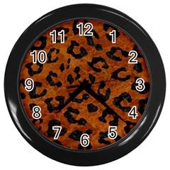 Skin5 Black Marble & Brown Marble Wall Clock (black) by trendistuff