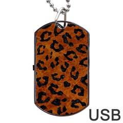Skin5 Black Marble & Brown Marble Dog Tag Usb Flash (one Side) by trendistuff