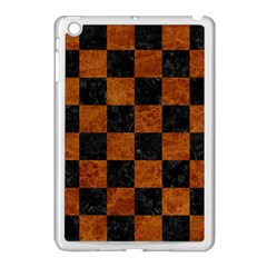 Square1 Black Marble & Brown Marble Apple Ipad Mini Case (white) by trendistuff