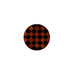 Square2 Black Marble & Brown Marble 1  Mini Button by trendistuff