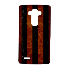 Stripes1 Black Marble & Brown Marble Lg G4 Hardshell Case by trendistuff