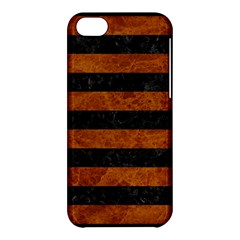 Stripes2 Black Marble & Brown Marble Apple Iphone 5c Hardshell Case by trendistuff