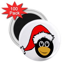 Christmas Animal Clip Art 2 25  Magnets (100 Pack)  by Onesevenart