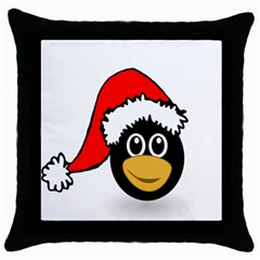 Christmas Animal Clip Art Throw Pillow Case (black) by Onesevenart
