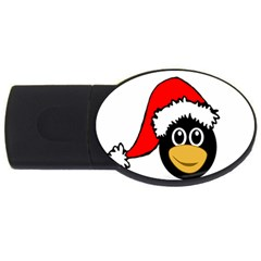 Christmas Animal Clip Art Usb Flash Drive Oval (4 Gb)  by Onesevenart