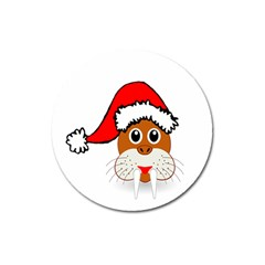 Child Of Artemis Christmas Animal Clipart Magnet 3  (round) by Onesevenart