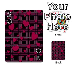 Harts Pattern Playing Cards 54 Designs  by Valentinaart