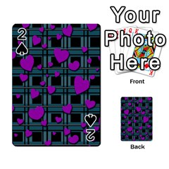 Purple Love Playing Cards 54 Designs  by Valentinaart