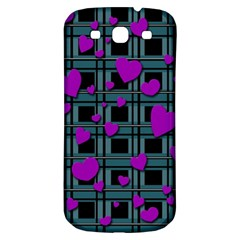 Purple Love Samsung Galaxy S3 S Iii Classic Hardshell Back Case by Valentinaart