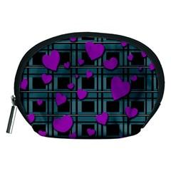 Purple love Accessory Pouches (Medium)  by Valentinaart